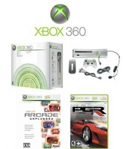 Xbox 360 Premium Gold Pack Video Game System + 7 Great Games