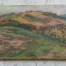 40 3/16x10 5/8in Painting Oil Vintage Landscape View Countryside Panoramic P19