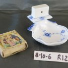 Royal Copenhagen 2044 Hinged Match Box Vintage Porcelain Match Box Holder R122