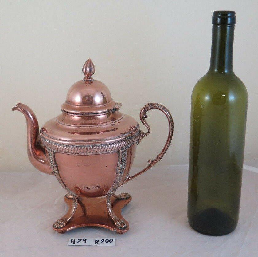 Antique Teapot Copper Danish Denmark Antique Copper Teapot Samovar Coffee R200
