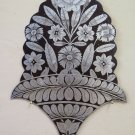 Antique Frieze Painting on Iron and Engraved a Engraving Style Floral CH13 9