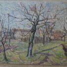 Landscape Autumn Painting Antique Painting Oil on board Original Countryside p8