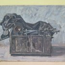 Painting Oil on board Years' 60 inside with Items Signed Original Pancaldi