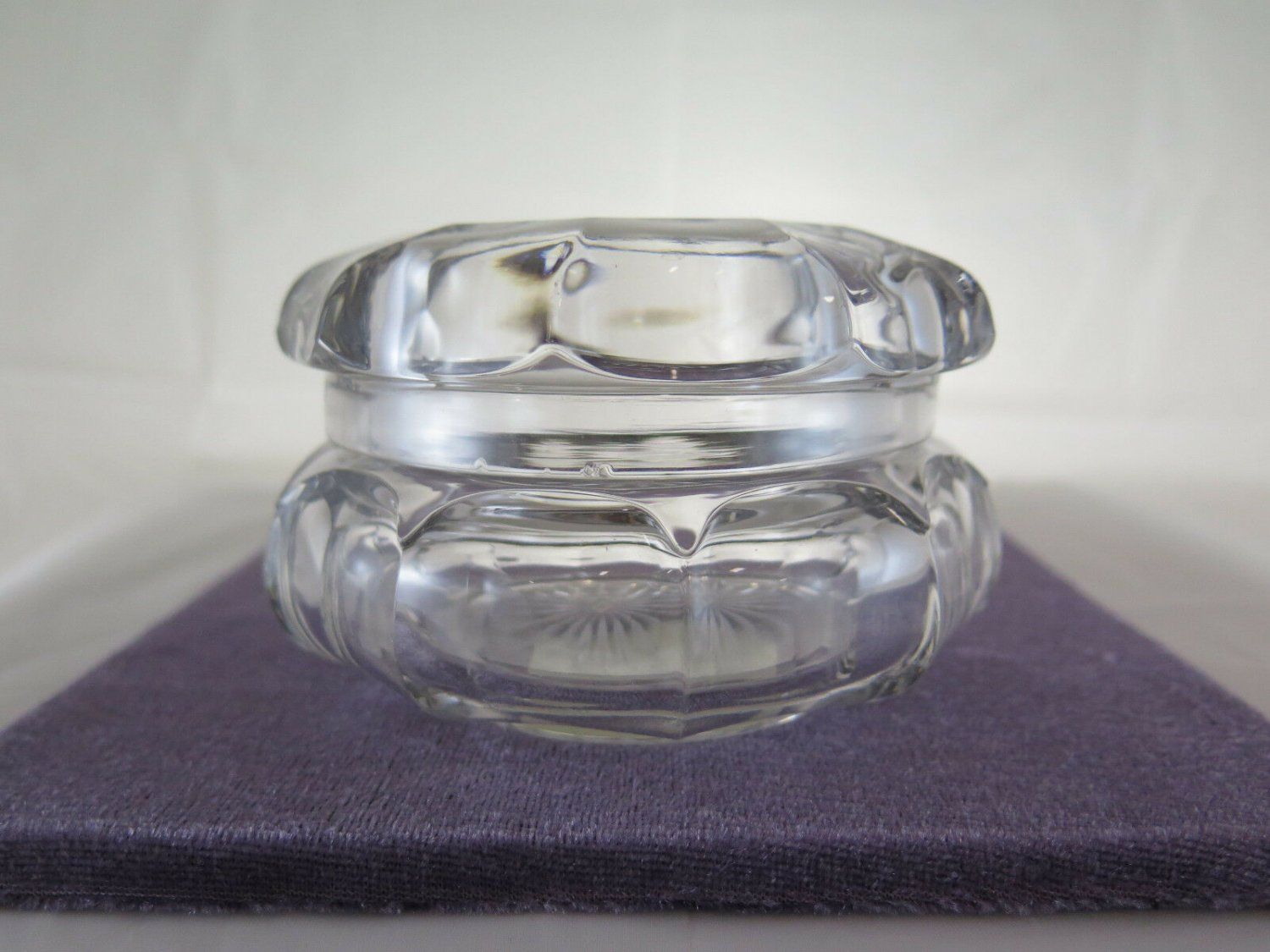 Antique Holder Bombon Glass Box for Candy Collectibles Denmark R41