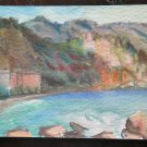 Painting Painting to Watercolour Landscape View of Sea Vintage Sailors P14