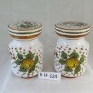 Pair of Vases in Ceramic Deruta Kitchen for Salt Sugar Hand Painted G29