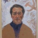 Painting Oil on board Self Portrait? of Painter Communist Pancaldi Years 60 P30