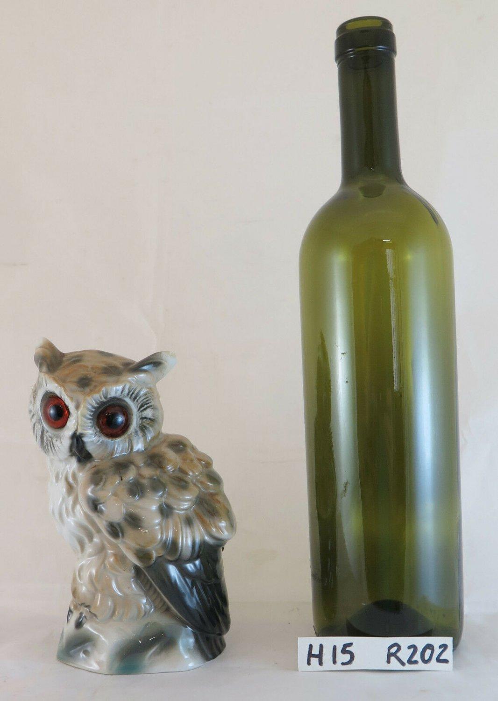 Lamp for Bedside Table Veilleuse Vintage 1940 in Porcelain Figurine Owl R202