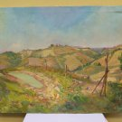 Painting Modern Painting of 900 Landscape Hills Spring Original Signed p4