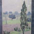Small Painting Antique Oil on board Painting Landscape with Trees Original p1