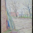 Painting Antique Painting Oil on board Landscape Signed Style Impressionist P16