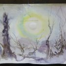 19 11/16x14 3/16in Landscape Onirico Painting with the Technical Frost Winter