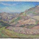 Landscape of Appennino Bolognese Painting Antique Oil Board Getano Pancaldi p17