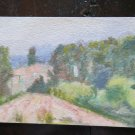 Painting to Watercolour on Basket Vintage Landscape Sketch Sudio Preparatory P14