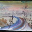 Painting Vintage Years 60 Painting Technical of Frost Painter G.Pancaldi