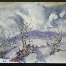 19 11/16x14 3/16in Painting Landscape Vintage Mountain with the Tech Frost P14