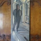 Painting Antique Painting Oil on board Portrait Male 1960's Warranty p7