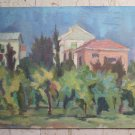 Painting Antique Painting to Oil on board Landscape Style Impressionist p12