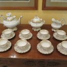 Antique Service for Tea Eight People Porcelain and Gold Italy End 2624 8/12ft1