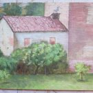Painting Antique to Oil on board View Case Countryside with Warranty p12