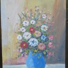 Antique Painting Floral Painting with Flowers Style Impressionist 1960's V