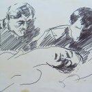 Old Drawing Opera of Pittora G.Pancaldi Sketch for Shapes on Basket P28.7