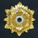 Ceiling Light Golden Vintage Wrought Iron Flower Magnolia Wall Gold CH19