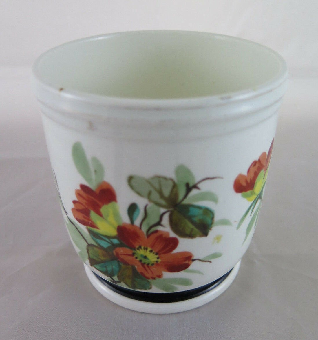 Vase in Ceramic Hand-Painted with Blossom Ideale Kitchen for Cookie R52