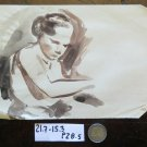 Drawing Antique Studio Preparatory Figure Feminine Sketch Original P28.5