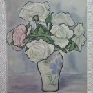 Antique Painting Floral Signed & Dated 1950 Watercolour on paper a Blossom