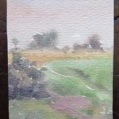 Painting Original Landscape Sketch of Painter Gaetano Pancaldi Modena P28.4