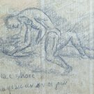 Drawing Antique Fighter Lucha Libre Sport Sports Years' 40 of '900 P28.6
