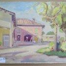 Landscape Countryside in Spring Painting of Twentieth Century Original p3