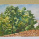 Painting Antique Landscape Painting to Oil on board Style Impressionist Antique