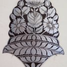 Frieze Antique Floral on Iron Engraved & Hand Painted Bouquet Flowers CH13 4