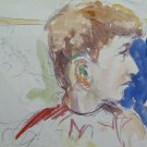 Old Sketch Painting to Watercolour Portrait of Child Years' 50 P28.8