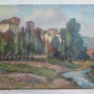Painting Antique Landscape in Autumn Oil on board with Certificate p10