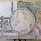 Modern Painting Anni '80 Portrait Feminine Xenon Mirror Technical Mixed