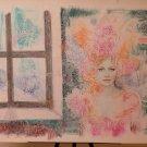 Portrait Feminine > Nerds > Retro > Pop Art Years 1980's Painting a Technical