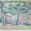 Painting Sketch to Watercolour Landscape Countryside half '900 Modena P28.4