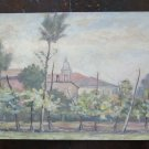 Painting to Watercolour Vintage View Country Piumazzo Modena 12 3/16x8 11/16in