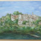 Painting Oil on Linen Marine View of a Borgo Ligure Painting on Linen MTB3