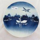 Large Plate in Ceramic Vintage with Swans Denmark 1900 Vintage Original R35