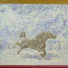 Painting Vintage Watercolour Ice Horse in Landscape Winter Snow Frost Ps