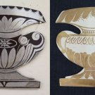 Pair of old Fret Iron Shaped like Vase Painted and Engraved CH13 64 65