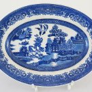 Plate of Ceramics Willow Ironstone Vintage Ceramic Willow Plate R120