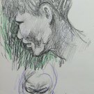 Old Drawing Pencil on Basket Portraits Studio for Faces Human Sketch P28.8