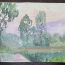 Old Painting to Watercolour Sketch Preparatory Sketch Landscape P28.4