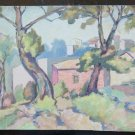 Small Painting to Watercolour Years 50 View by Country Opera Master Pancaldi P14