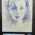 Drawing Antique Studio Preparatory Portrait of Child Sketch Original P28.5